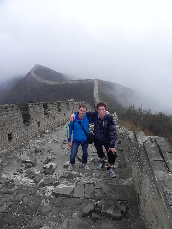 A la grande murale de Chine