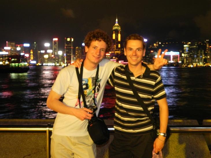 Maxence et moi à Hong Kong