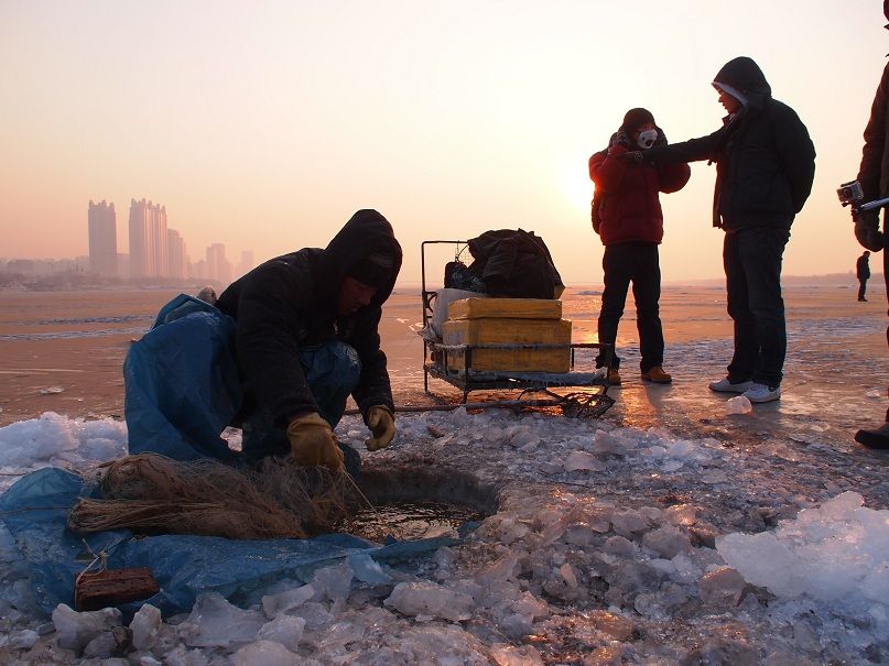 Pêcheur hivernal