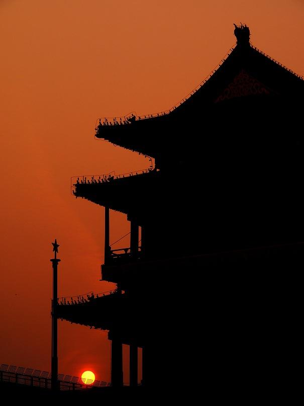 Couché de soleil à Pékin