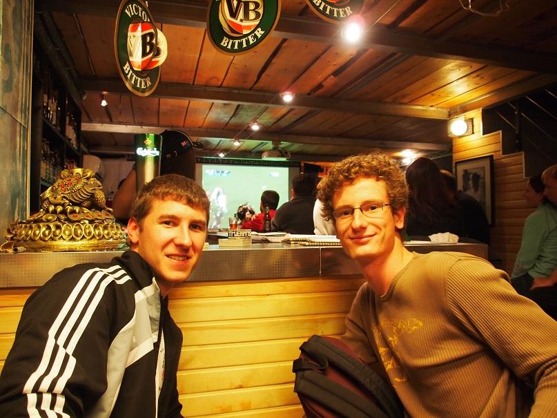 Final de Rugby au bar le Truemann
