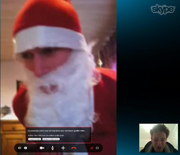 Papa Noël sur Skype