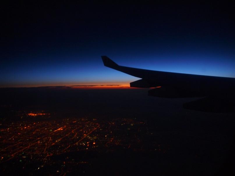 Survol de Pékin à 5h du matin