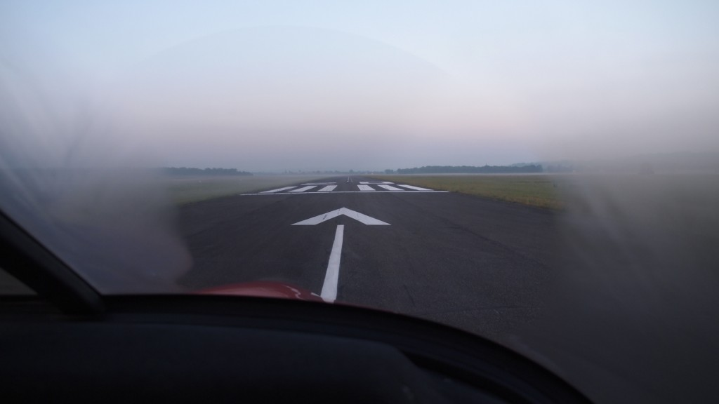 Buée avant de décoller