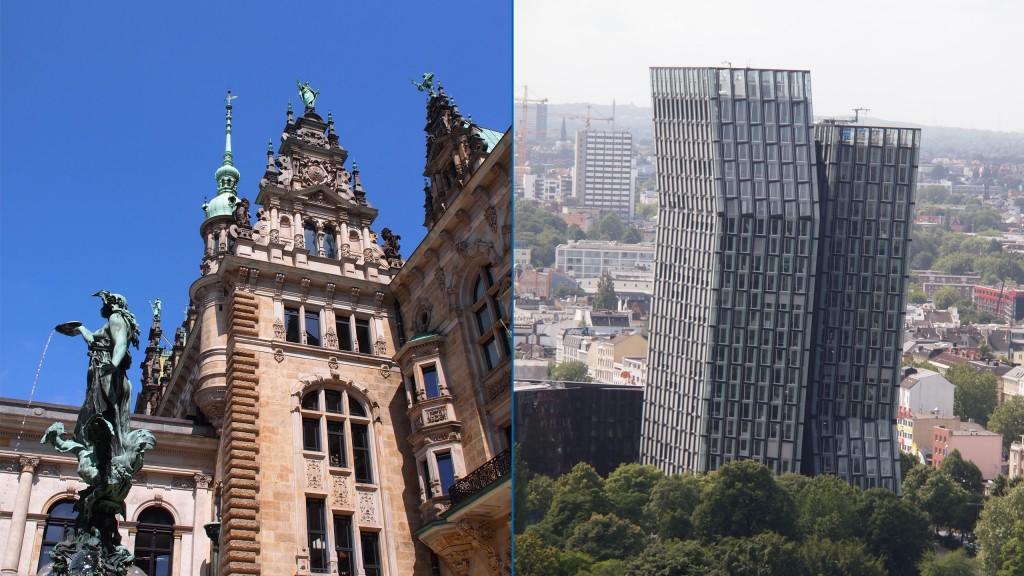 Contrastes architecturaux de Hambourg