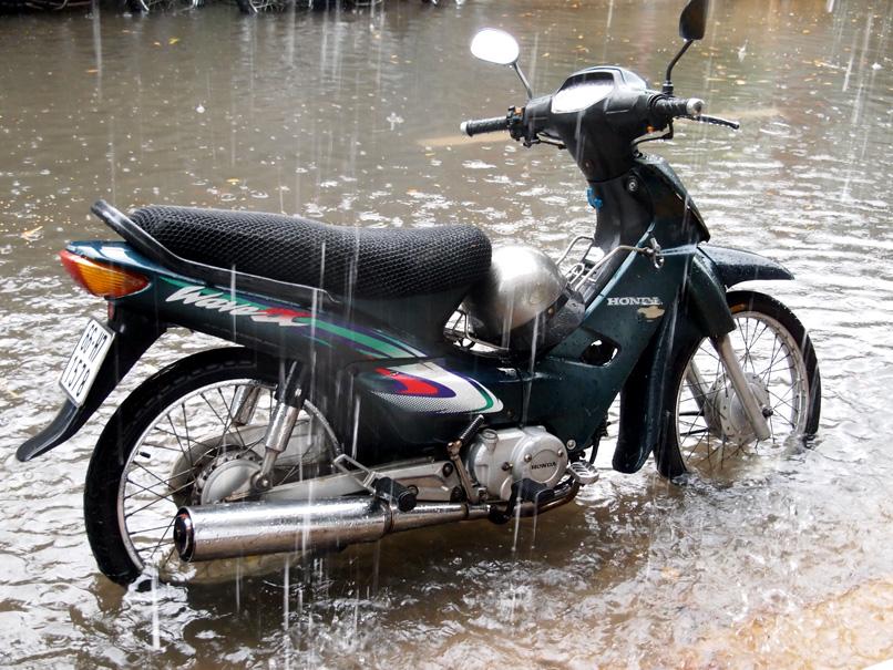 Pluie vs motobike
